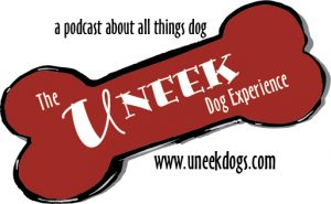 The Uneek Dog Experience bone logo w text